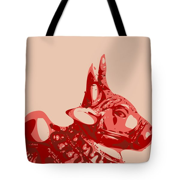 Abstract Bull Contours Glaze Tote Bag