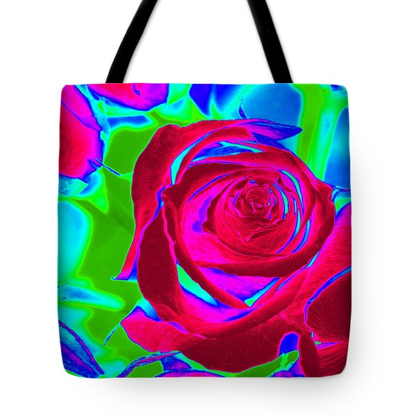 Burgundy Rose Abstract Tote Bag