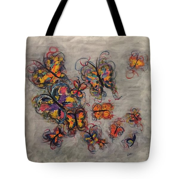 Abstract Butterflies Tote Bag