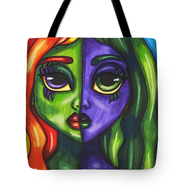 Abstract Butterfly Fairy Girl Tote Bag