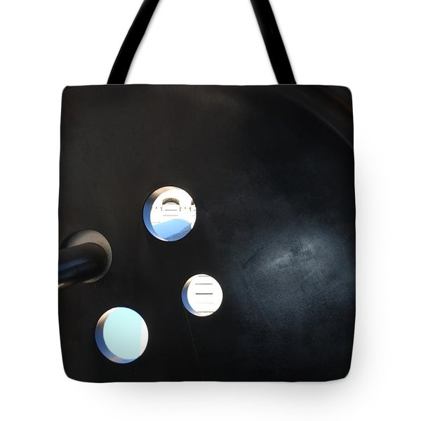 Abstract Button Holes Tote Bag by Rob Hans