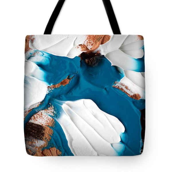 Tote Bag featuring the painting Abstract C010816 by Mas Art Studio