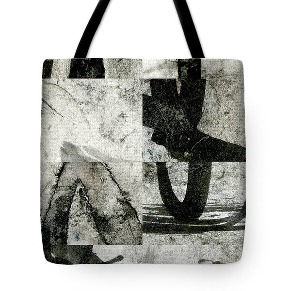 Abstract Calligraphy Collage 2 Tote Bag