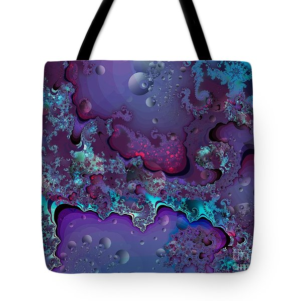 Tote Bag featuring the digital art Abstract Chaotic by Michelle H