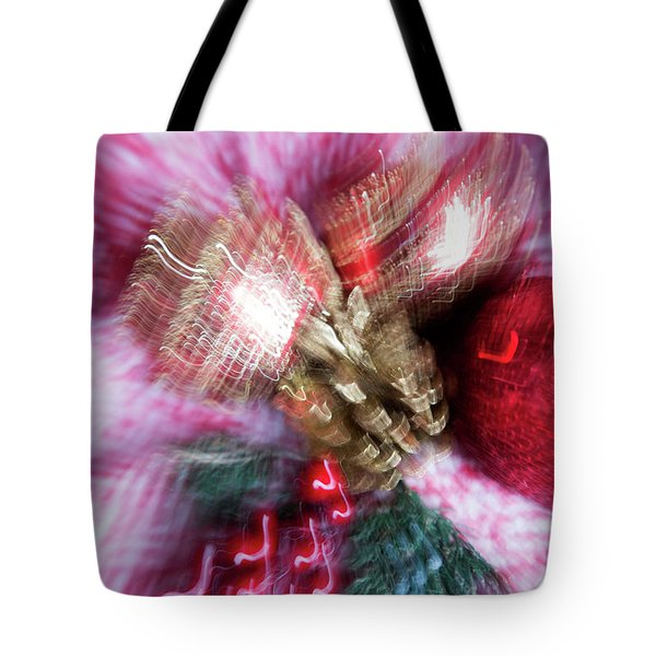 Tote Bag featuring the photograph Abstract Christmas 5 by Rebecca Cozart