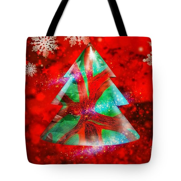 Abstract Christmas Bright Tote Bag