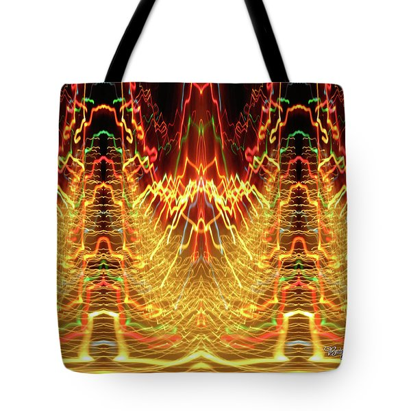 Abstract Christmas Lights #175 Tote Bag