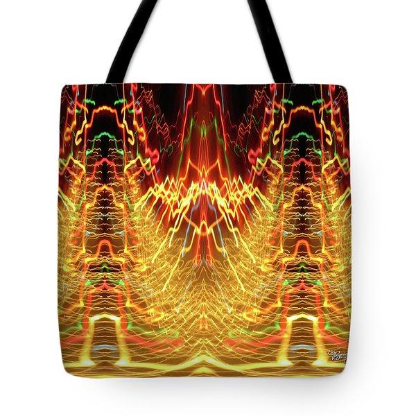 Abstract Christmas Lights #175 Tote Bag