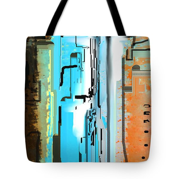 Abstract City Downtown Tote Bag
