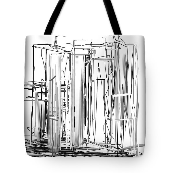 Abstract City Tote Bag by Jessica Wright