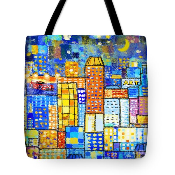Abstract City Tote Bag by Setsiri Silapasuwanchai