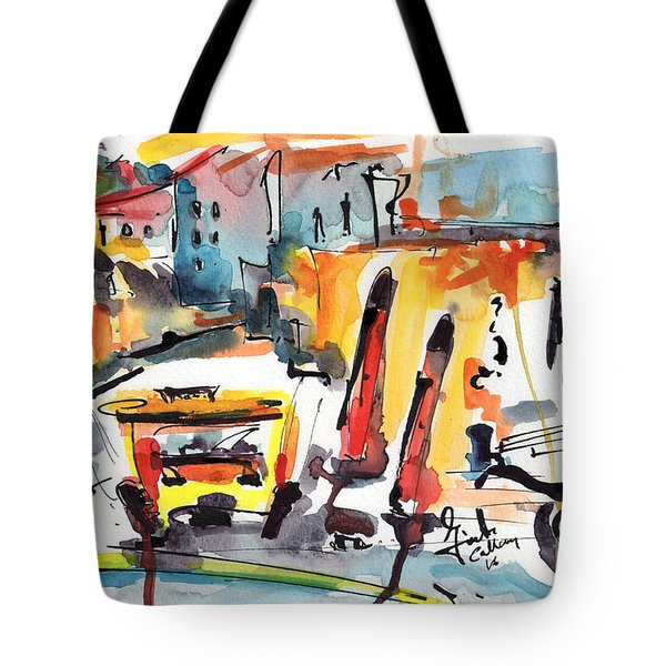 Abstract City Streets 1 Modern Art Tote Bag