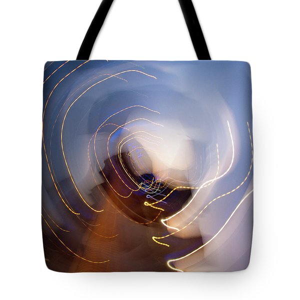 Tote Bag featuring the photograph Abstract Citylights by Rico Besserdich