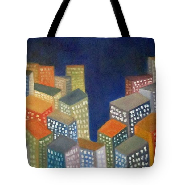 Abstract Cityscape Series Tote Bag