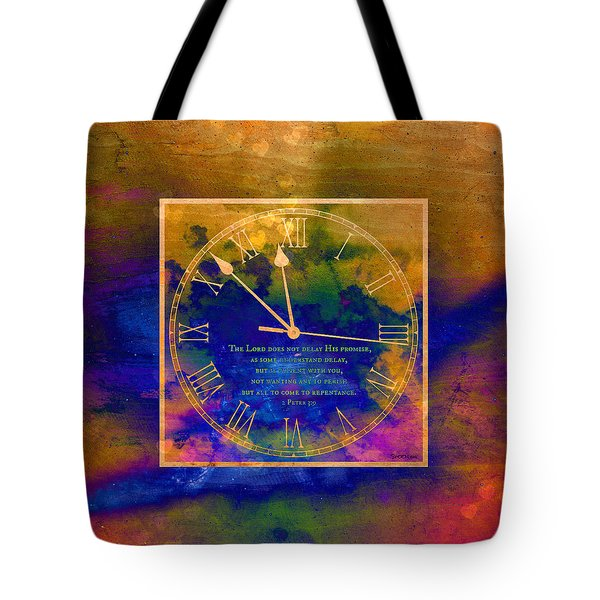 Abstract Clock Of Time Tote Bag