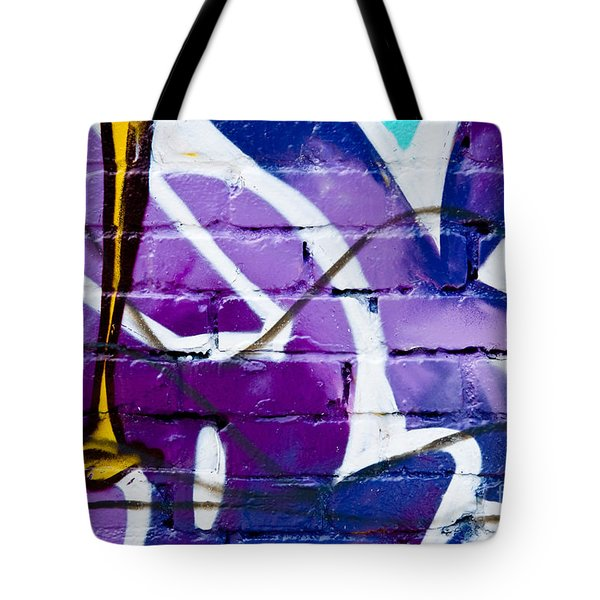 Tote Bag featuring the painting Abstract Closeup Graffiti Detail  by Yurix Sardinelly
