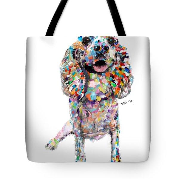 Abstract Cocker Spaniel Tote Bag