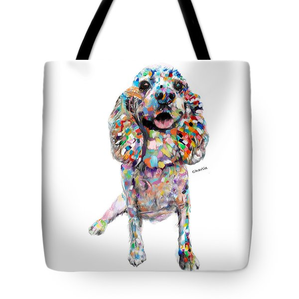 Abstract Cocker Spaniel Tote Bag