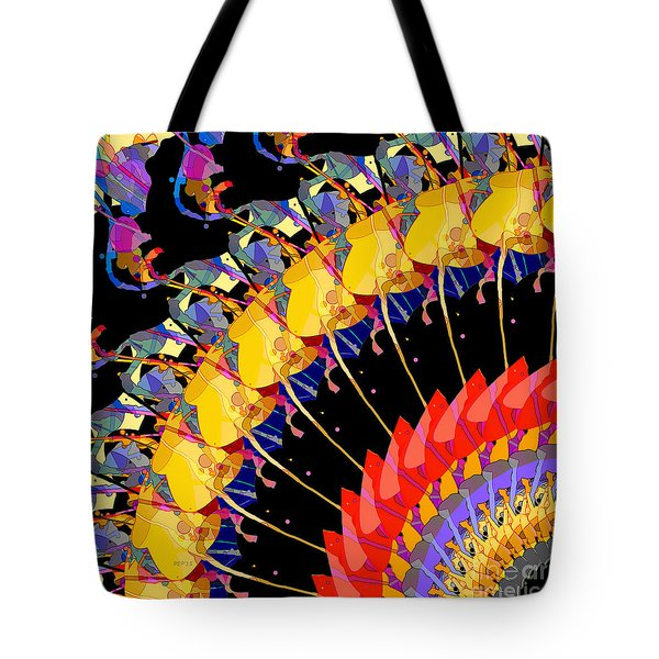 Tote Bag featuring the digital art Abstract Collage Of Colors by Phil Perkins