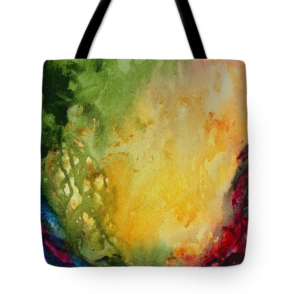 Abstract Color Splash Tote Bag