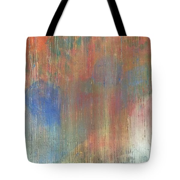 Tote Bag featuring the painting Abstract Confetti 4 by Paula Brown