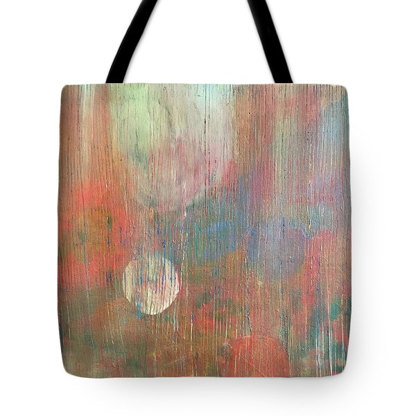 Tote Bag featuring the painting Abstract Confetti by Paula Brown