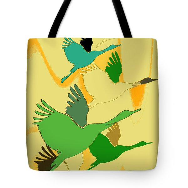 Abstract Cranes Tote Bag