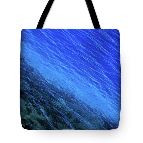 Abstract Crater Lake Blue Water Tote Bag