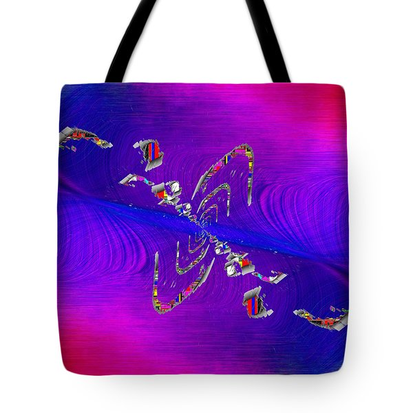 Tote Bag featuring the digital art Abstract Cubed 350 by Tim Allen