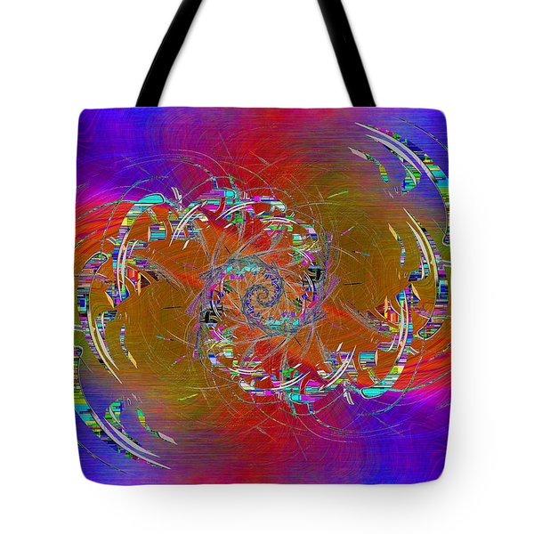 Tote Bag featuring the digital art Abstract Cubed 351 by Tim Allen