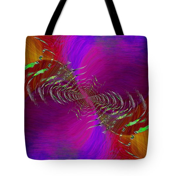 Tote Bag featuring the digital art Abstract Cubed 352 by Tim Allen