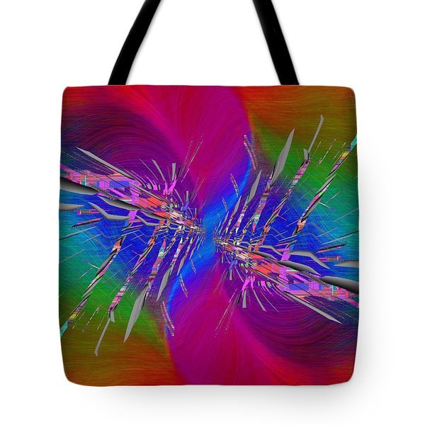 Tote Bag featuring the digital art Abstract Cubed 353 by Tim Allen