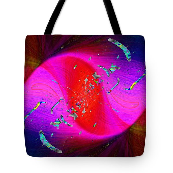 Tote Bag featuring the digital art Abstract Cubed 354 by Tim Allen