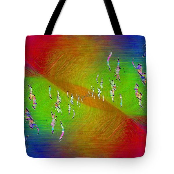 Tote Bag featuring the digital art Abstract Cubed 355 by Tim Allen