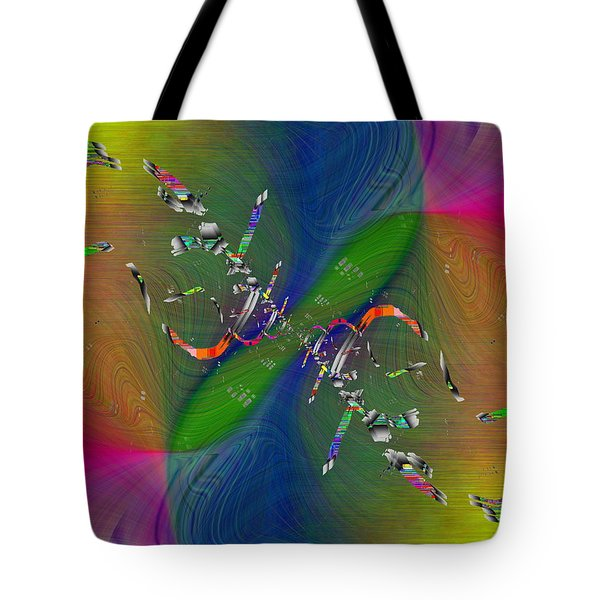 Tote Bag featuring the digital art Abstract Cubed 356 by Tim Allen