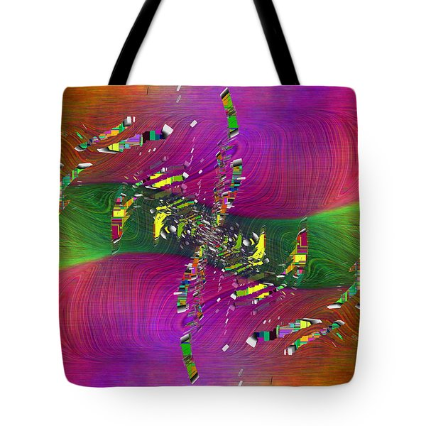 Tote Bag featuring the digital art Abstract Cubed 357 by Tim Allen