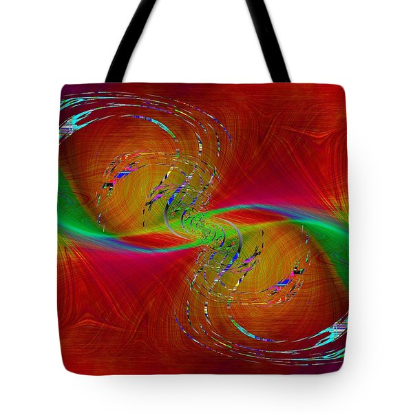 Tote Bag featuring the digital art Abstract Cubed 358 by Tim Allen