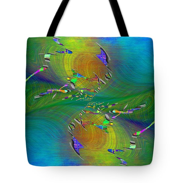 Tote Bag featuring the digital art Abstract Cubed 359 by Tim Allen