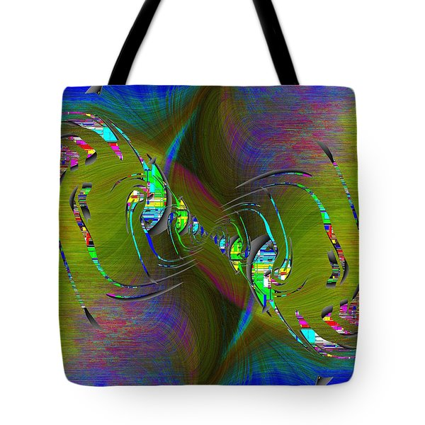 Tote Bag featuring the digital art Abstract Cubed 361 by Tim Allen