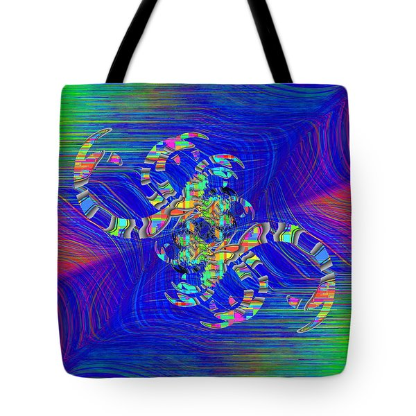 Tote Bag featuring the digital art Abstract Cubed 362 by Tim Allen