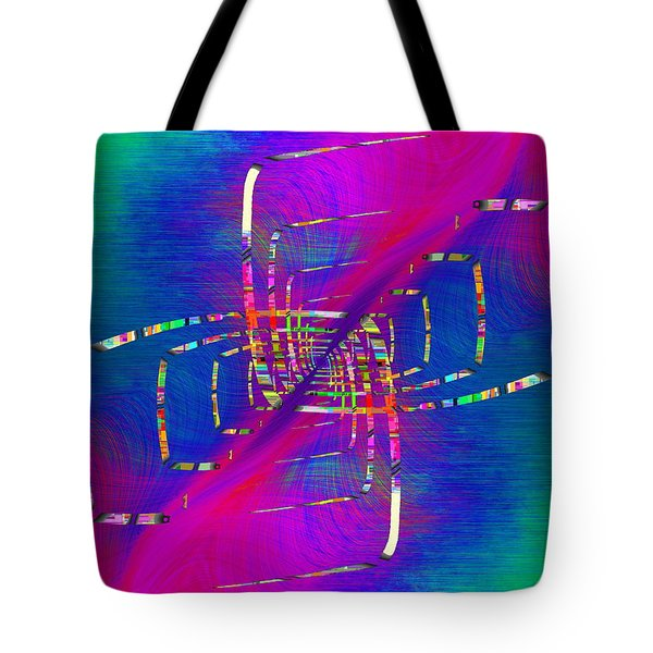 Tote Bag featuring the digital art Abstract Cubed 363 by Tim Allen