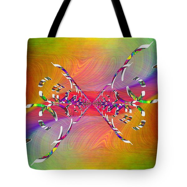 Tote Bag featuring the digital art Abstract Cubed 364 by Tim Allen
