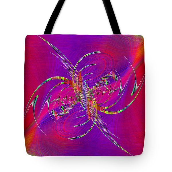 Tote Bag featuring the digital art Abstract Cubed 365 by Tim Allen