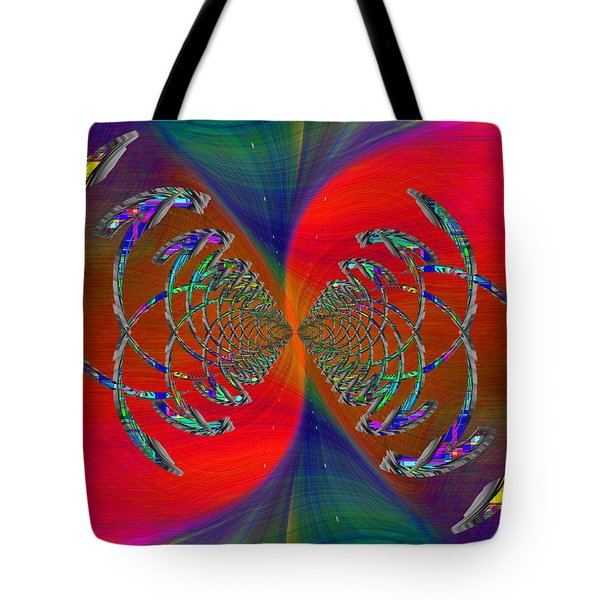 Tote Bag featuring the digital art Abstract Cubed 366 by Tim Allen
