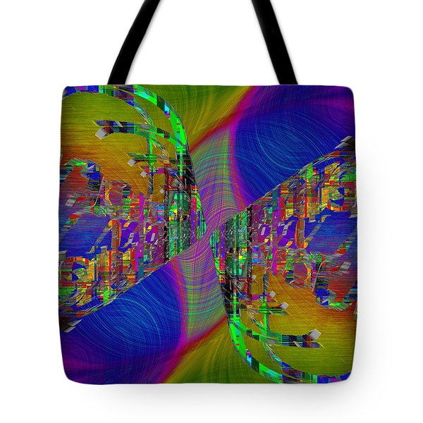 Tote Bag featuring the digital art Abstract Cubed 368 by Tim Allen