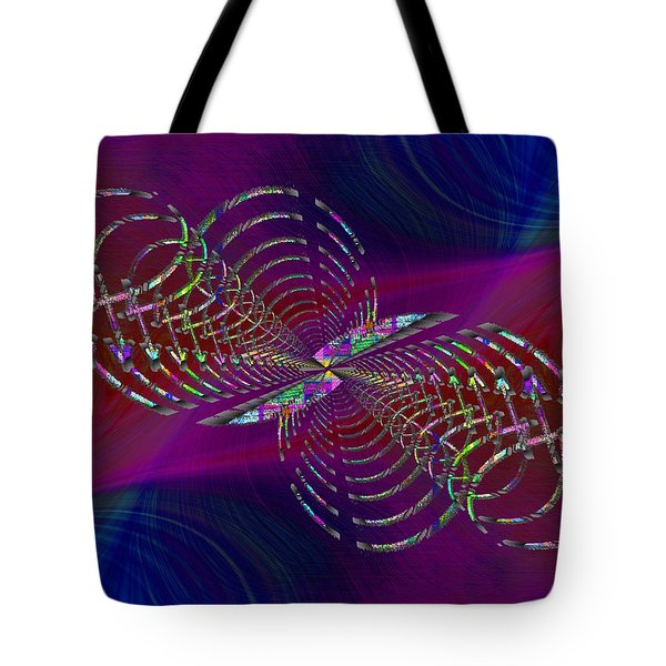 Tote Bag featuring the digital art Abstract Cubed 369 by Tim Allen