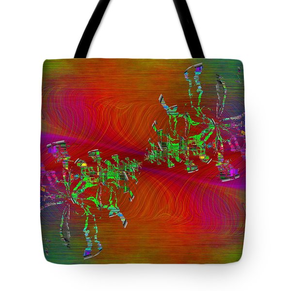 Tote Bag featuring the digital art Abstract Cubed 371 by Tim Allen