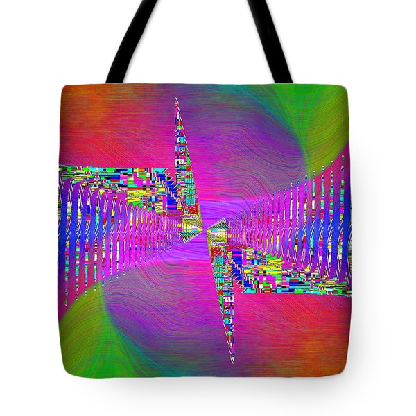 Tote Bag featuring the digital art Abstract Cubed 373 by Tim Allen