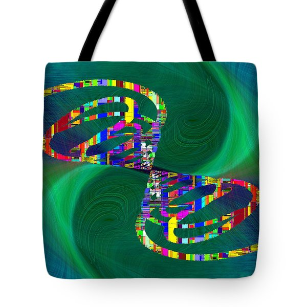 Tote Bag featuring the digital art Abstract Cubed 374 by Tim Allen