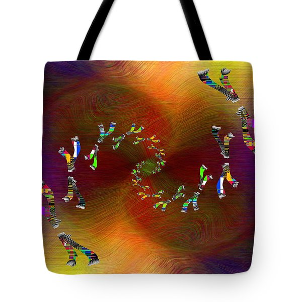 Tote Bag featuring the digital art Abstract Cubed 375 by Tim Allen